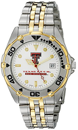 (Texas Tech Red Raiders Men's All Star Watch Stainless Steel Bracelet)