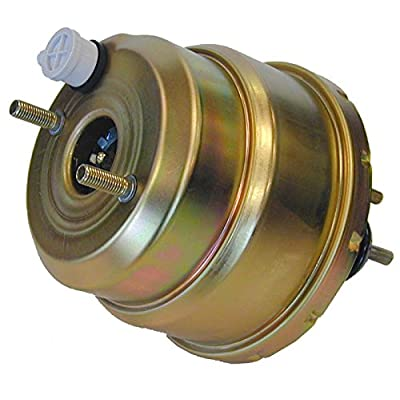 "(N-4-4) Dual Diaphragm 7"" Power Brake Booster Gold Zinc Universal Hot Rod Universal GM: Automotive"