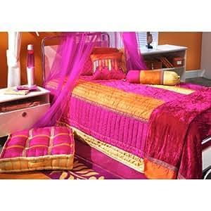 Bacati tangerine full queen bedding set for Naaptol kitchen queen set