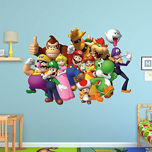 Fathead Peel and Stick Decals Nintendo Super Mario Group RealBig ()