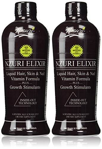 Nzuri Elixir - Liquid Hair Vitamin Plus Growth Stimulants - 64 Ounces by (Elixir Liquid Vitamins)