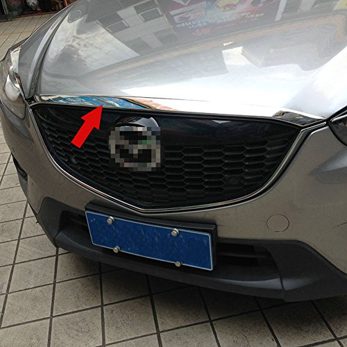Generic Chrome Car Front Hood Grill Cover Bonnet Trim Fit For Mazda CX-5 2014 2015 2016