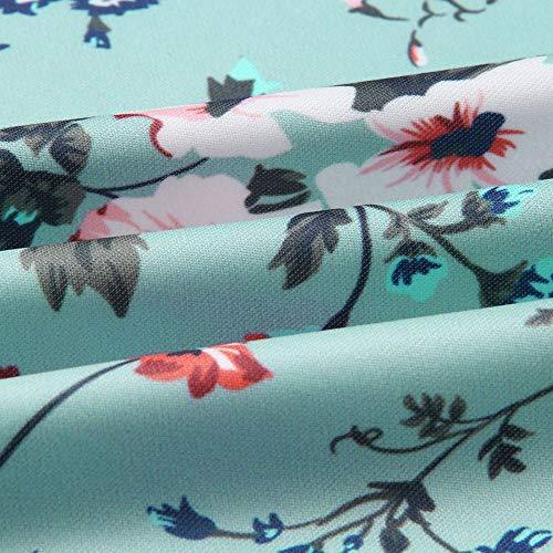 Qiyun Manches z À Imprimé Longues Manteau Vert Floral pwpZqU