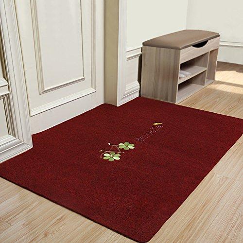 WAN SAN QIAN- Rug Bedside Blanket Rectangle Blended Carpet Simple Style Lambskin Solid Color Bedroom Carpet Rug ( Color : Red , Size : 160x200cm ) by Rug
