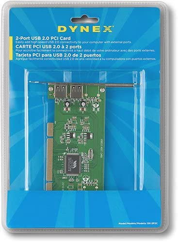 Dynex 2-Port USB 2.0 PCI Card DX-2P2C
