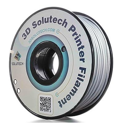 3D Solutech Silver Metal 3D Printer PLA Filament 2.85MM Filament, Dimensional Accuracy +/- 0.03 mm, 2.2 LBS (1.0KG) - 100% USA