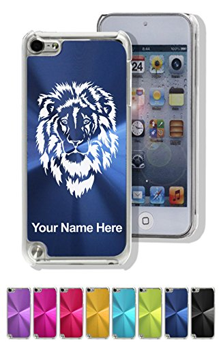 Case for iPod Touch 5th/6th Gen - Lion Head - Personalized Engraving Included (5 King Lion Ipod Touch Case)