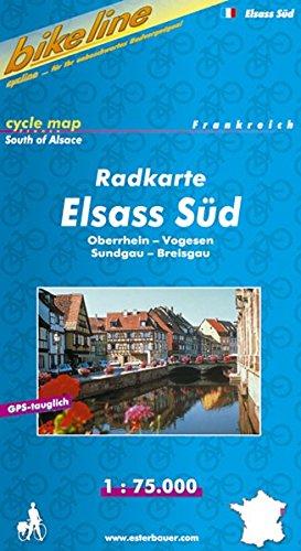 Bikeline Radkarte Elsass Süd. 1 : 75.000. Frankreich, wasserfest und reißfest, GPS-tauglich mit UTM-Netz