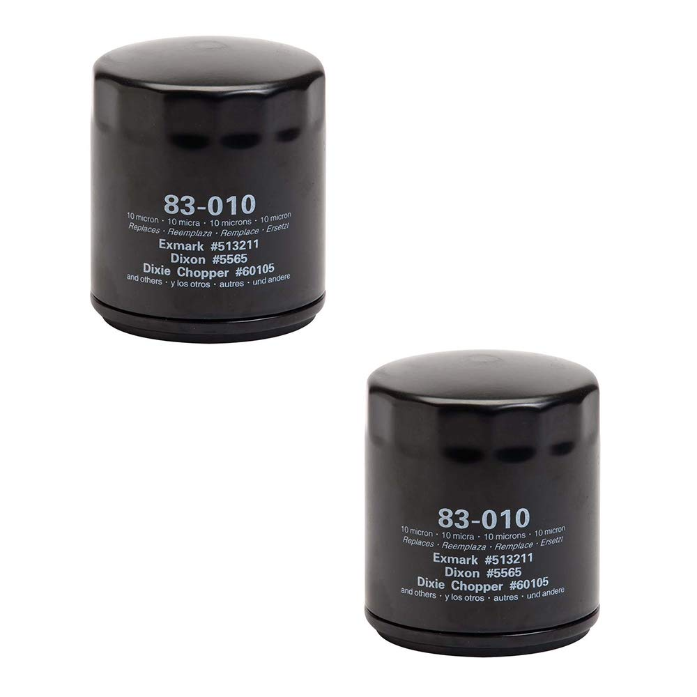 Oregon 83-010 (2 Pack) Oil Filter Replaces Exmark Dixie Chopper 60105