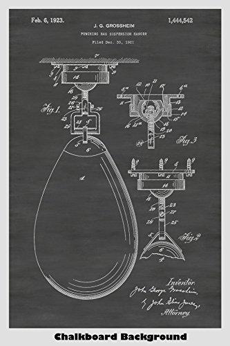 Boxing Punching / Speed Bag Poster Patent Print Art Poster: