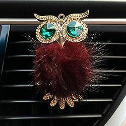 Diamond Fur Owl Car Air Freshener