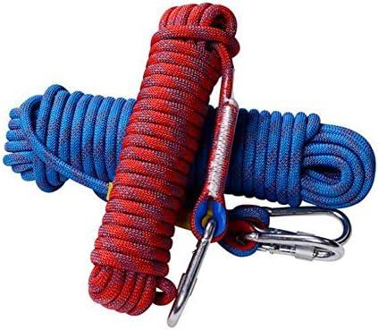 登山ロープ、20メートル、屋外火災脱出レスキューパラシュート静的屋内ロープ、ヘビーデューティ安全耐久ロープ、クライミング機器直径16mm,d,10m