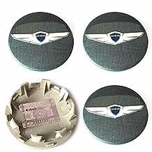 "Wing Logo 17"" 18"" Wheel Center Hub Caps 4PCS for Hyundai 2015- Genesis OEM Parts"