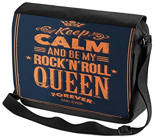 Umhänge Schulter Tasche Fun Keep Calm Rock n Roll bedruckt