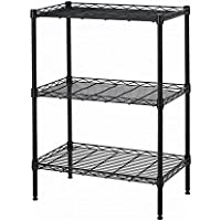Wire Shelving Cart Unit 3 Shelves