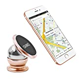 Cell Phone Holders Mounting Bracket for Car Magnetic 360 Degree Rotate Cell Phone Stands Desk, iPhone Artwork 5 Colors (Gold)