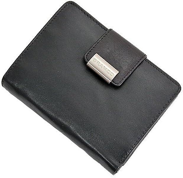 8516e5b9aea1d BRANCO Leder Damen Geldbörse Börse Portemonnaie Geldbeutel 10x13x2cm schwarz
