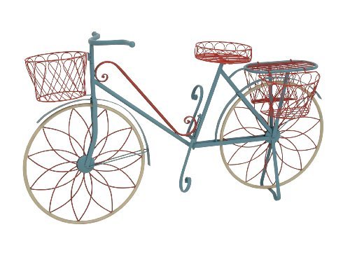 Benzara The Ingenious Metal Bicycle Plant Stand by Benzara