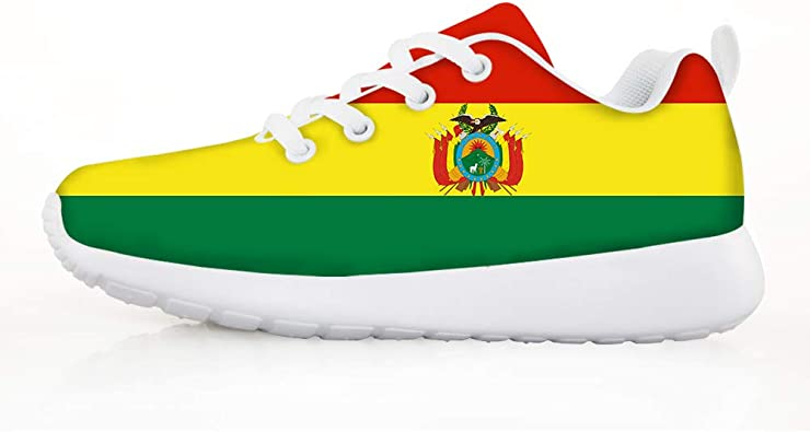 Bolivia National Flag Lightweight Breathable Casual Sports Shoes Fashion Sneakers Shoes