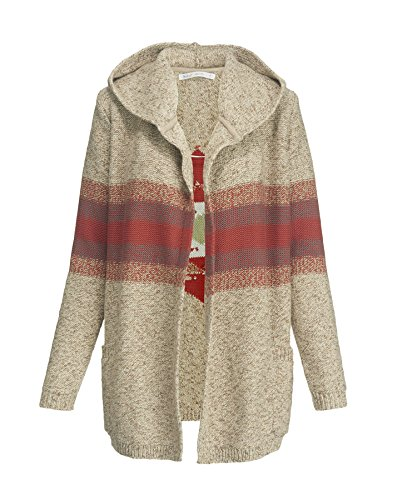 Woolrich Women's Blue Spruce Cardigan Sweater Coat, BURLAP MARL (Beige), Size L by Woolrich