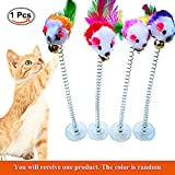 Retractable Cat Toys, 1 Pieces funny cat stick Including Cat Teaser Wand Interactive Feather Toy Fluffy Mouse Balls Catnip for Cats Kitten