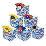 12Pc/Lot Superhero Avengers Superman Batman Candy Box Popcorn Box Birthday Party Decorations Kids Party Supplies,5X5X5Cm