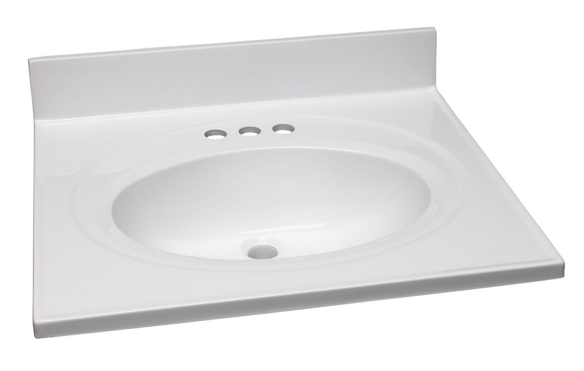 Design House 551333 Single Bowl Cultured Marble Vanity Top 31 Red
