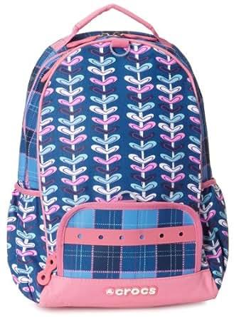 Crocs Little Boys' Printed Backpack, Oblong Heart/Plaid, Large