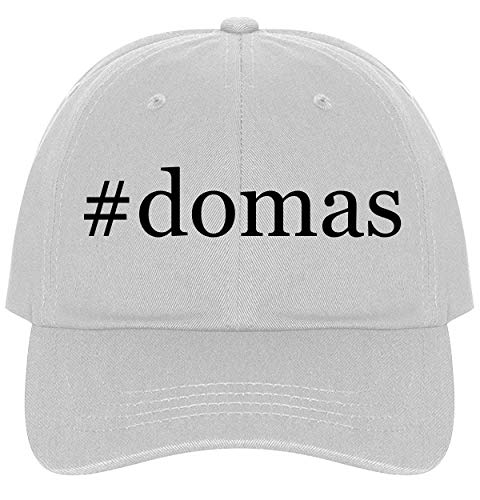 (#Domas - A Nice Comfortable Adjustable Hashtag Dad Hat Cap, White)