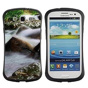 Suave TPU Caso Carcasa de Caucho Funda para Samsung Galaxy S3 I9300 / Plant Nature Forrest Flower 26 / STRONG