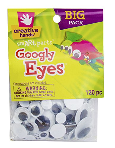 Creative Hands by Fibre-Craft – 5-30mm Black Glue-On Googly Eyes – Teaches Creativity – Multipurpose – 120 Pack