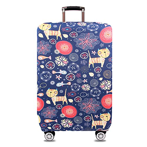 TRAVEL KIN Thickened Luggage Cover 18/24/28/32 Inch High Elastic Travel Suitcase Spandex Protective Cover (L(25