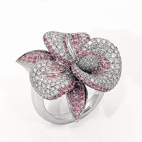 - Orchid Diamond Ruby and Pink Sapphire Ring