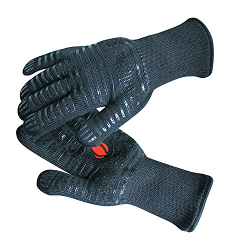Grill Heat Aid Extreme Heat Resistant Grill/BBQ Gloves | Premium Insulated Durable Fireproof Kitchen Mitts Designed For Cooking, Grilling, Frying, Baking | Indoor/Outdoor Accessories For Men & Women by Grill Heat Aid