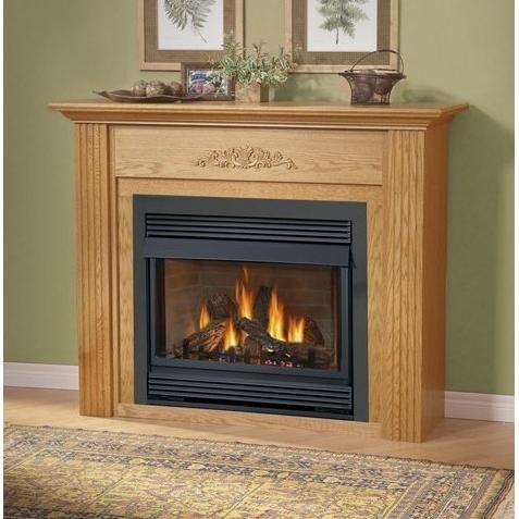 (Napoleon Gvf36 Vent Free Propane Fireplace With Painted Black Louvre Kit )