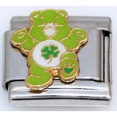 Care Bear Good Luck Bear 9mm Italian Charm Fits Zoppini Talexia