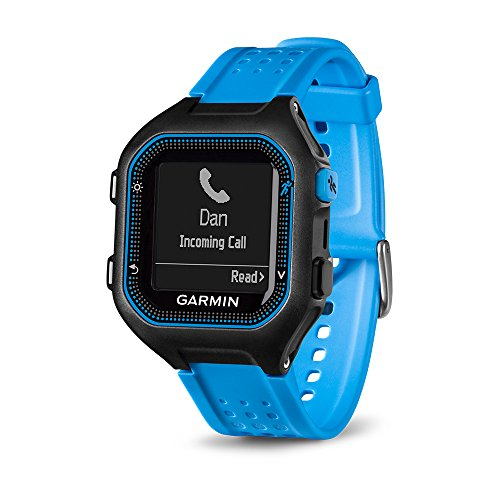 Garmin Forerunner 25 GPS Running Watch (Large; Black/Blue) - 010-01353-01 (Certified Refurbished) by Garmin