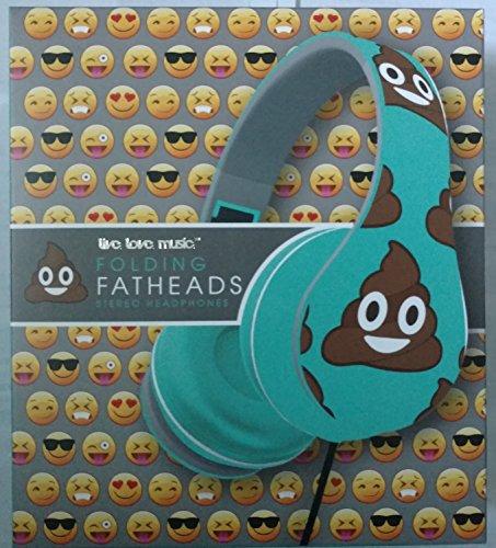 Folding Fatheads Poop Emoji Headphones
