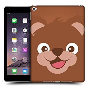 Head Case Designs Bear Cartoon Animal Faces Protective Snap-on Hard Back Case Cover for Apple iPad Air 2
