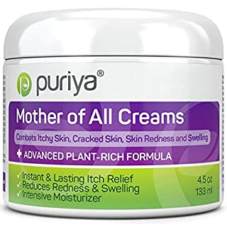 Puriya Daily Moisturizing Cream for Dry, Itchy and Sensitive Skin, Face and Body - Mother of All Creams for Extra Care of Skin Redness and Rash, Plant Rich Formula with Natural Light Peppermint Scent