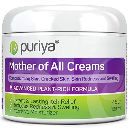 Puriya Dry Cracked Sensitive Skin Moisturizer -Award Winning - Trusted by 300,000 Families - Plant Based Instant Lasting Relief. Hydrates and Softens Rough Skin. Intensive Body, Hand, Foot, Face Cream