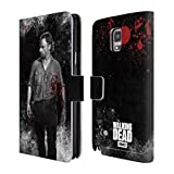 Official AMC The Walking Dead Rick Grimes Gore Leather Book Wallet Case Cover For Samsung Galaxy Note 4