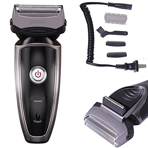 Men's Rechargeable Cordless Electric Razor Shaver Groomer Double Edge Trimmer US