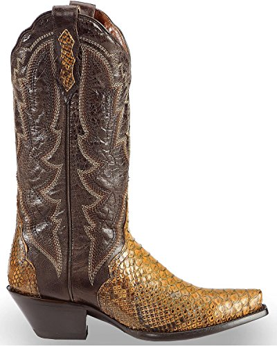 Dan Post Womens Back-cut Python Triade Cowgirl Laars Knip Teen - Dps392 Taupe