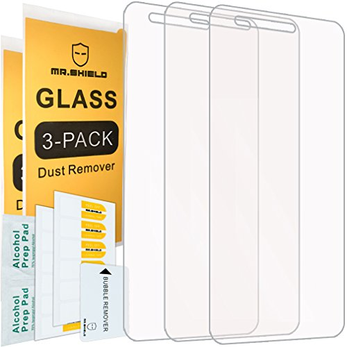 [3-PACK]-Mr Shield For LG Fortune [Tempered Glass] Screen Protector with Lifetime Replacement Warranty