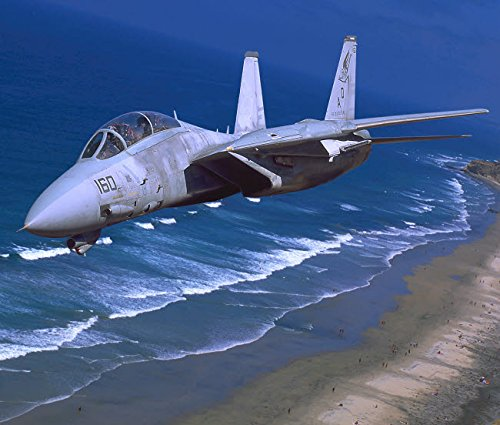 Posterazzi Poster Print Collection F-14 Tomcat Flying Over San Diego California Phil Wallick/Stocktrek Images, (17 x 11), - Wall F-14 Tomcat