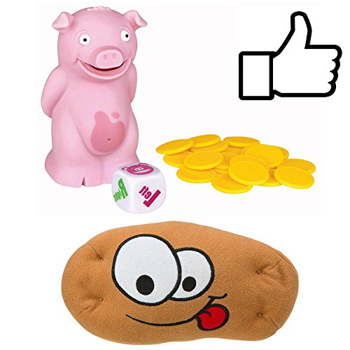 Electronic Hot Potato and Pass the Farting Pig Games Bundle. Tossing and Flew Around my Room with Group of Kids or Adult. Best Family Party Dice Toy. A Perfect Gift for Children's Birthday