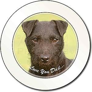Patterdale Terrier 'Love You Dad' Impuesto de matriculación disco regalo permisi