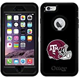 Texas A&M Helmet design on Black OtterBox Defender Series Case for iPhone 6 Plus and iPhone 6s Plus