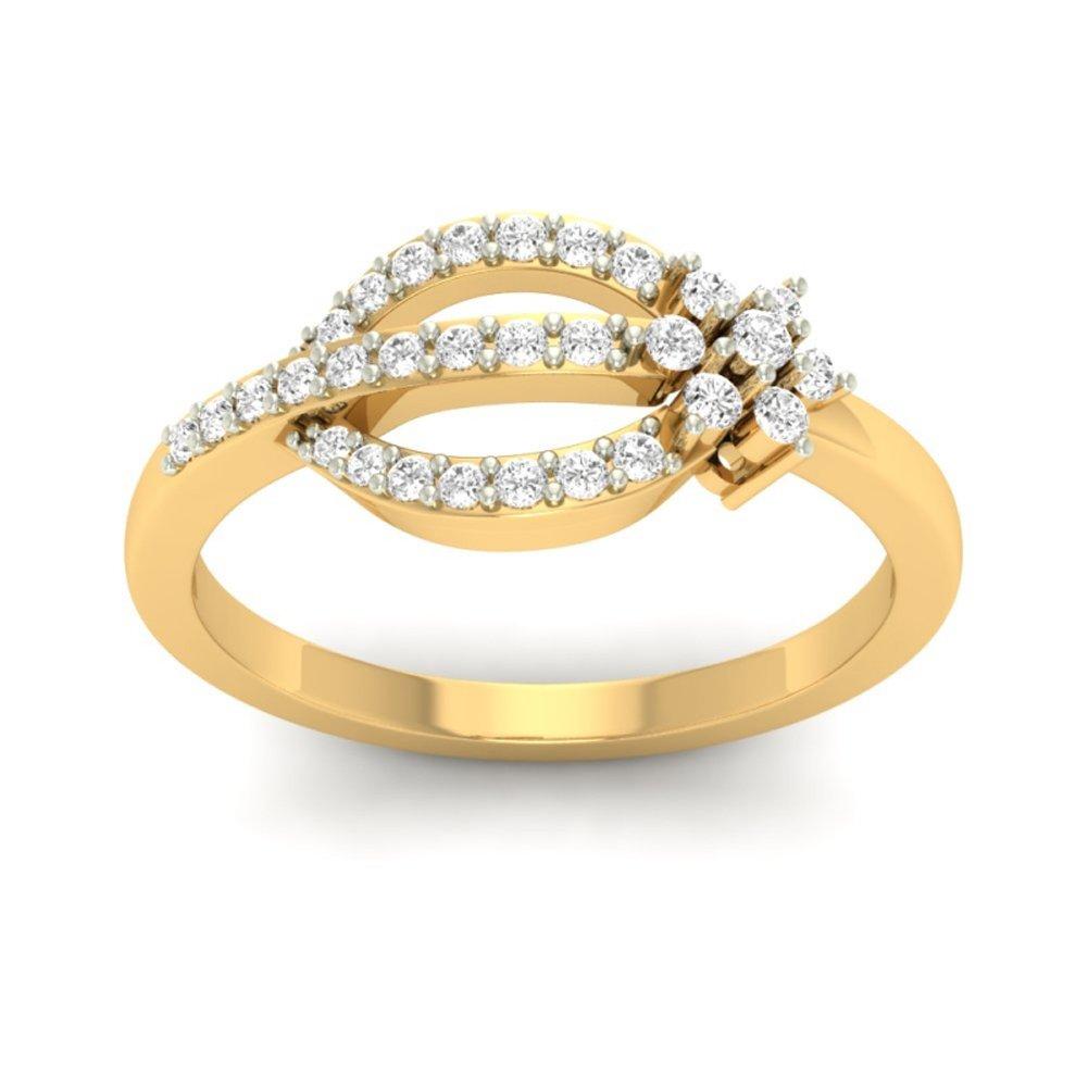 14K Yellow Gold (HallMarked) 0.29cttw Round-Cut-Diamond (IJ | SI) Diamond Engagement Wedding Ring Size - 10